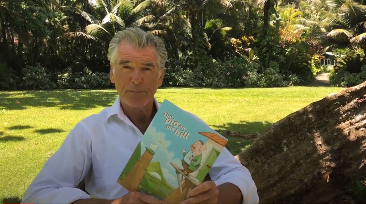 "Pierce Brosnan Reads ""The Pig On The Hill"""