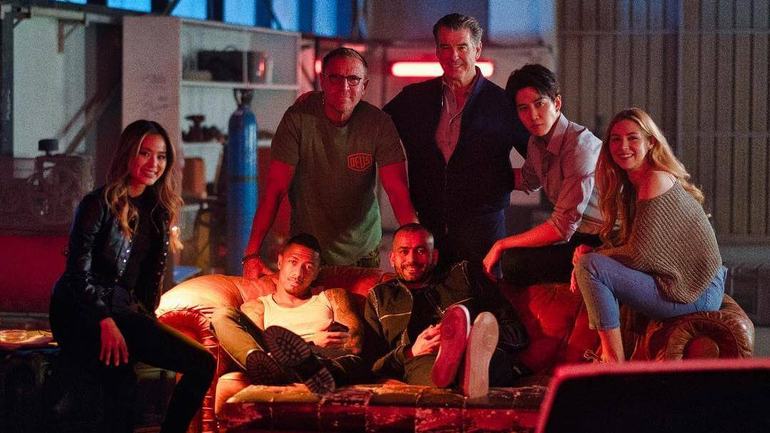 Pierce Brosnan shares a glimpse of 'The Misfits' set in Abu Dhabi
