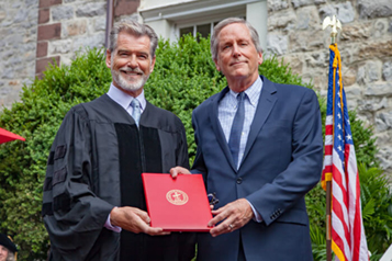 Pierce Brosnan Urges Dickinson College Class of 2019 to 'Make Something That Matters'